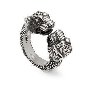 Gucci Siamese Snake Tiger Ring